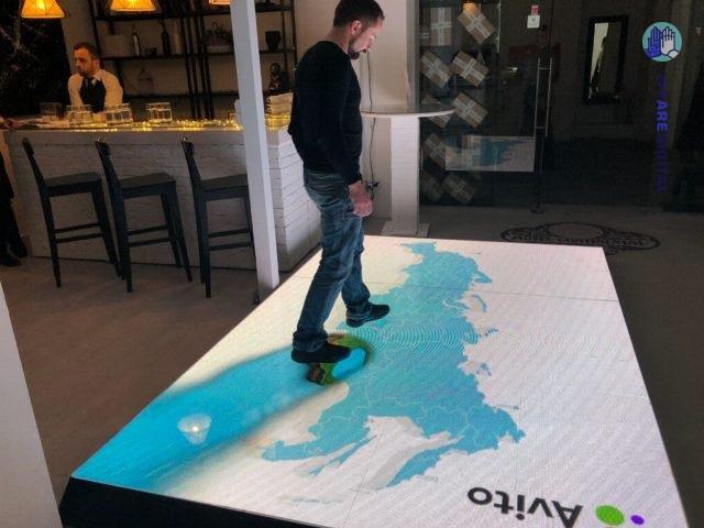LED-пол – уникальная интерактивная технология для выставочных мероприятий
