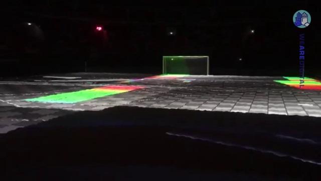 Проекционное шоу на песок, в рамках чемпионата мира по пляжному футболу